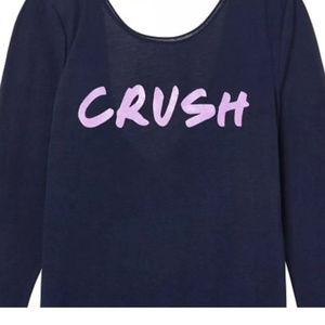 Victoria's Secret Crush Tee Shirt Long Sleeve Blue